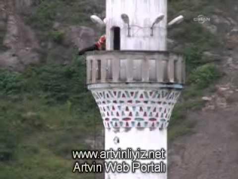 borçka ilçesi karşıköy köyü imamının kayıkla ezan yolculuğu