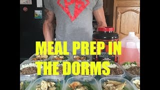 meal prep in the college dorms