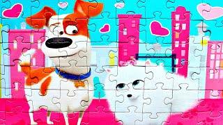Тайная Жизнь Домашних Животных 2 - Макс и Гиджет  собираем пазлы для детей The Secret Life of Pets 2