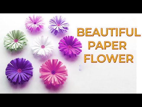 How To Make Paper Flower Fast and instantly in Short time (Eti's etc)