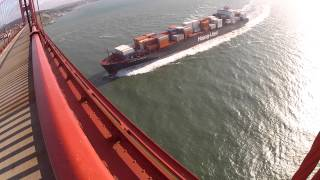 Hapag-Lloyd Container Ship from the Golden Gate Bridge
