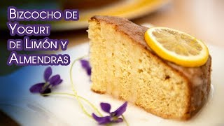 Bizcocho o Tarta de Yogurt con Limon y Almendras Esponjoso y Riquisimo