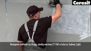 Описание и применение штукатурка декоративная Ceresit CT 760 структура 'storm'