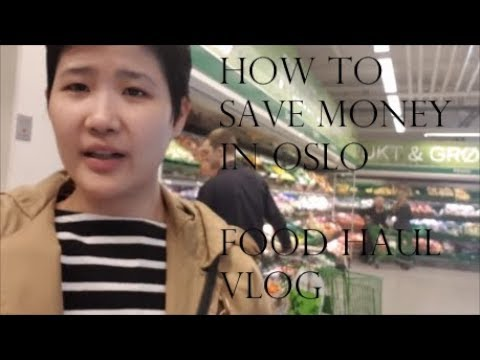 Spring time food haul in Oslo VLOG How to save money?