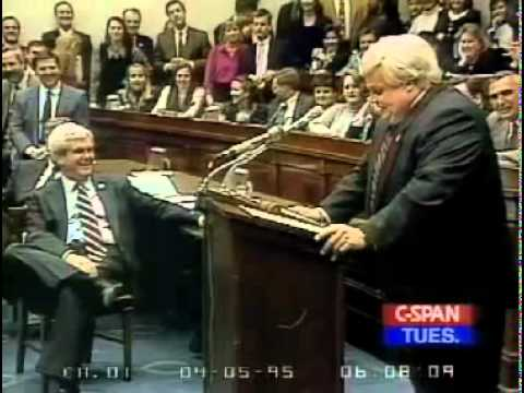 """Chris Farley"" Impersonating Newt Gingrich at The 1995 House Republican Conference! (Archives)"