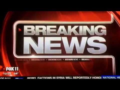 KTTV Fox 11 Ten O'Clock News Sunday open September 11, 2016