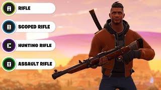 Guess The Fortnite Gun Sound Effect (Gun Sound Challenge)