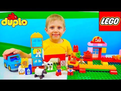 Лего Ферма и Даник   Развивающее видео для детей с конструктором Lego Duplo Learn about Farm
