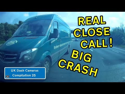 UK Dash Cameras - Compilation 25 - 2019 Bad Drivers, Crashes + Close Calls