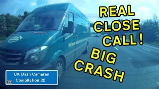 UK Dash Cameras - Compilation 25 - 2019 Bad Drivers, Crashes + Close Calls