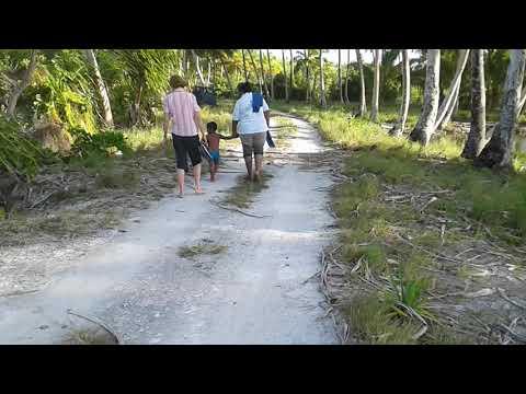 Tanginteaira Bridge Makin Island, Kiribati
