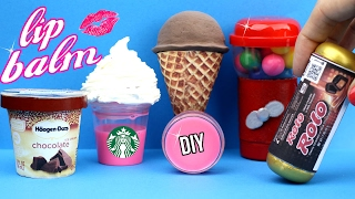 DIY Lip Balm {Easy}! 5 Mini Candy, Liquid Starbucks, Bubblegum & Ice Cream Lip   Gloss DIYs!