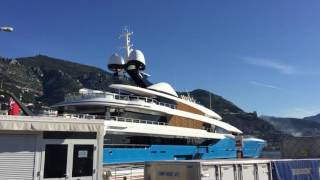 Madame GU $150M superyacht and some Porsche in Monaco