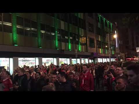 Danish Fans In Temple Bar, Dublin.