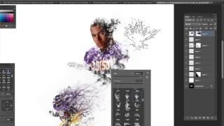 L'utilisation de la Fumée de Pinceaux pour Créer des Sports des Portraits à l'Aide de Photoshop, Partie II