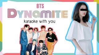 [Karaoke with u] BTS (방탄소년단) ~Dynamite~ (8 members) (with Lyrics) (Line Distribution)   i'mJam