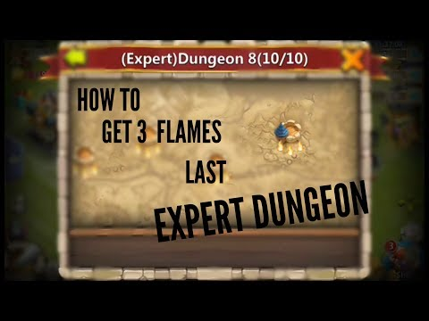 How To Get 3 Flames In Expert Dungeon 8-10 (last) || Castle Clash For F2p ||