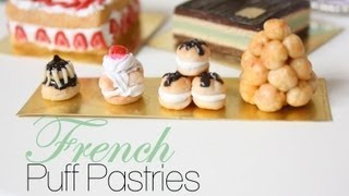 French Puff Pastries : French Pastries & Desserts Episode # 1 - Polymer Clay Tutorial Thumbnail