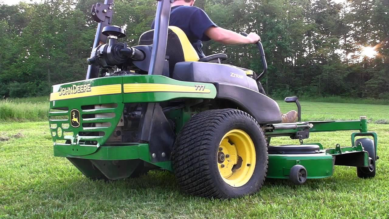 John Deere 777 72 Zero Turn Commercial Ztrak Lawn Mower Youtube