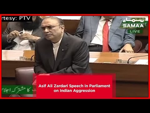 Asif Ali Zardari Speech in Parliament on Indian Aggression | Samaa TV | March 01, 2019