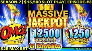 High Limit Lock It Link Slot Machine MASSIVE HANDPAY JACKPOT - $25 Max Bet | SEASON-7 | EPISODE #3