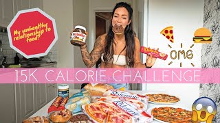15K CALORIE CHALLENGE - WITH MY BOYFRIEND | EPIC CHEAT DAY FOR A FITNESS COUPLE!