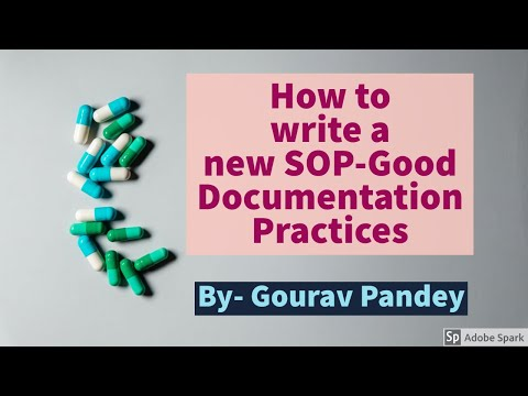 How To Write A New SOP- Good Documentation Practice