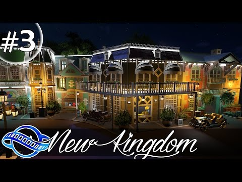 PLANET COASTER - New Kingdom Part 3 - Central plazza & Mainstreet