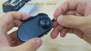 120dB Pir Motion Camṗing Alarm and Personal Alarm Keychain with LED Light