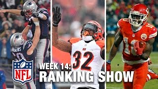 Top 10 Plays, Top 3 Celebrations, & More! | NFL Now Week 14 Ranking Show