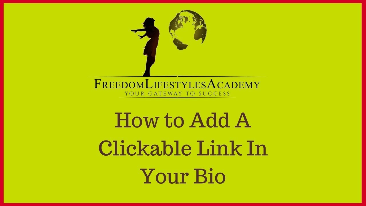 how to show links in youtube bio