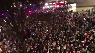 Tuscaloosa Alabama Crimson Tide Fans Celebration Celebrating on Streets After Winning National Title