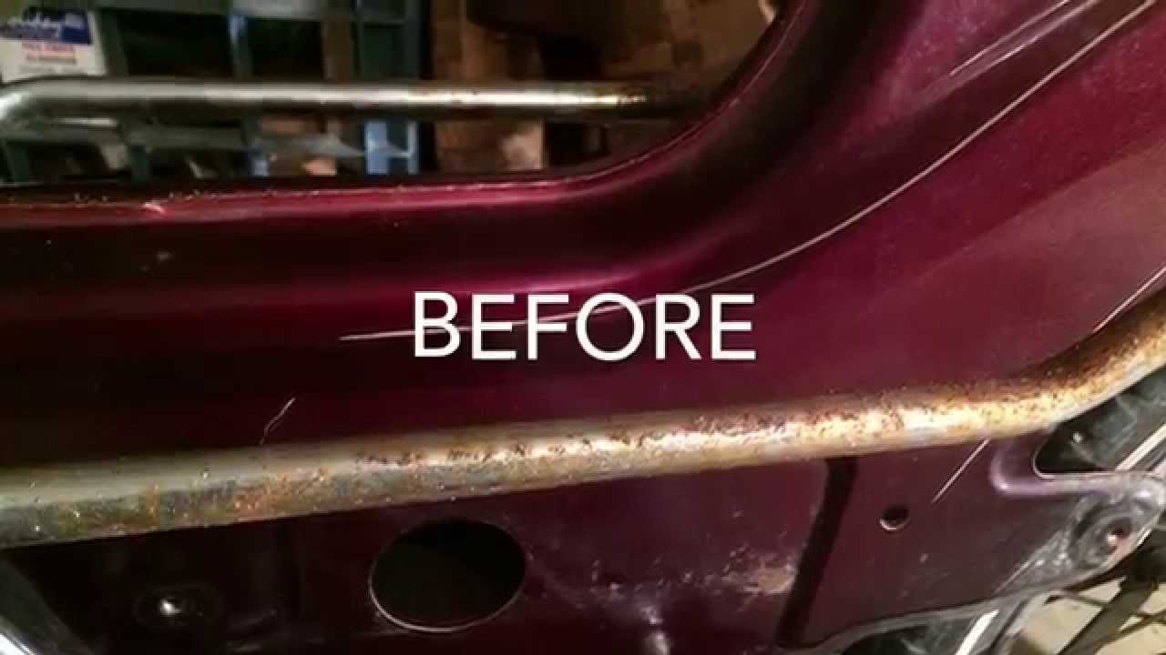 Cleaning Rust From Chrome With Wd40 And Steel Wool You