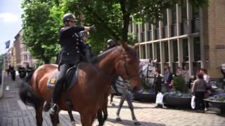 Stabsmusikkens flashmob på Karl Johan