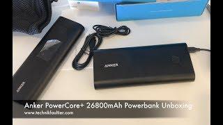 Anker PowerCore+ 26800mAh Powerbank Unboxing