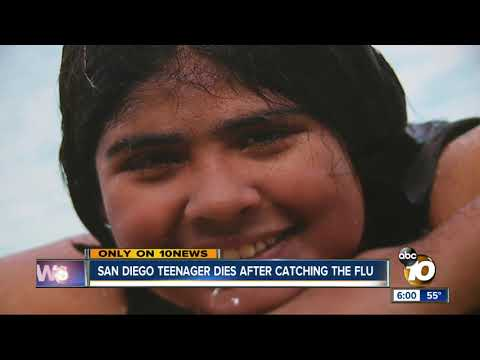San Diego teenager dies after catching the flu