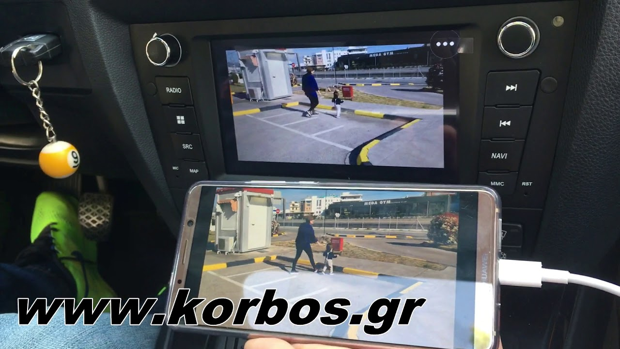 Dynavin N7 Android Mirroring and Factory Park Sensors Display www korbos