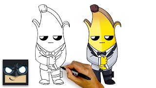 How to Draw Agent Peely Ghost 🕶 NEW!!! Fortnite Chapter 2 Season 2