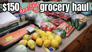 $150 LARGE FAMILY WALMART GROCERY HAUL | HEALTHY FOOD & MEAL PLANNING
