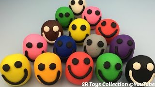 Play Dough Smiley Face Surprise Toys Masha and the Bear My Littlest Pet Shop and Party Animals Toys