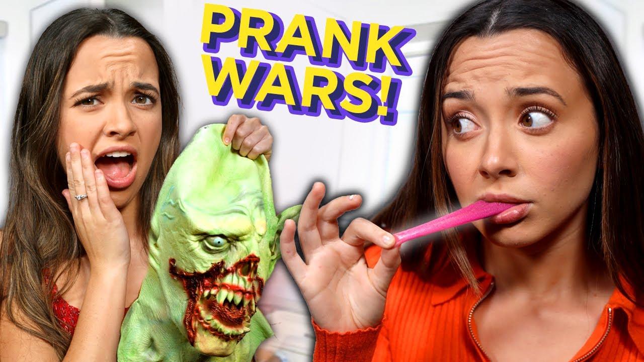 TIK TOK Halloween PRANK WARS | Mystery Twin Bin w/ The Merrell Twins