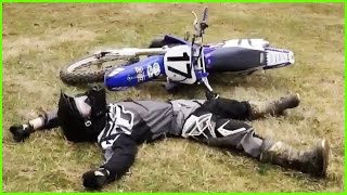 FUNNY DIRT BIKE CRASHES  FAILS 2017