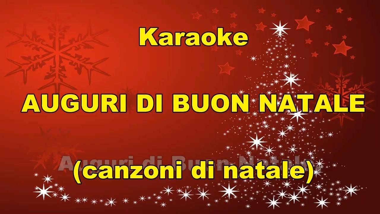 Canzone Di Natale Buon Natale.Karaoke Auguri Di Buon Natale Canzoni Di Natale Con Testo Youtube