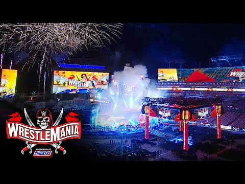 WrestleMania 37 set reveal at Raymond James Stadium