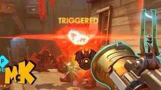 Junkrat The Winston Summoner | Triggered Reinhardt | Overwatch Funny And Random Moments