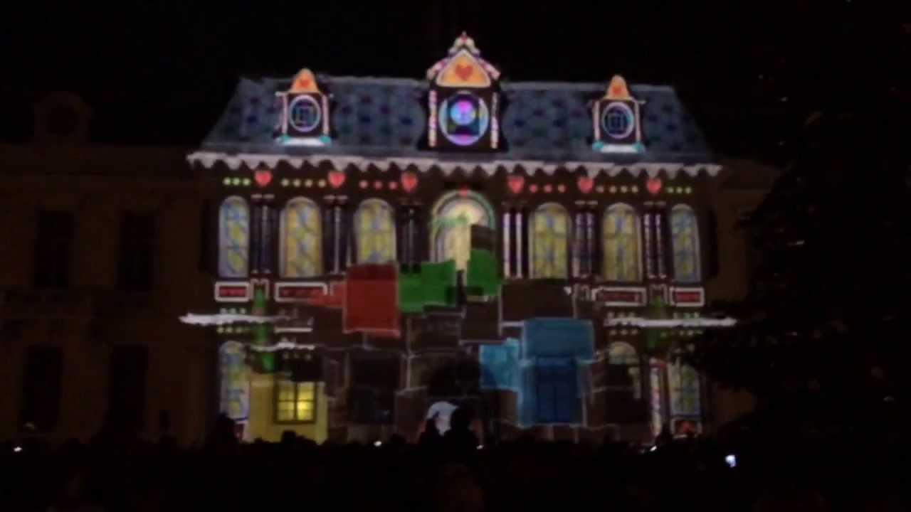 illuminations de no l hotel de ville troyes youtube