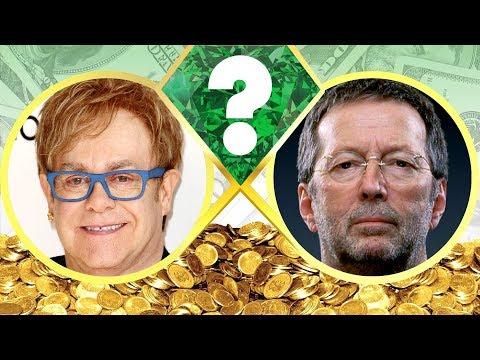 WHO'S RICHER? - Elton John or Eric Clapton? - Net Worth Revealed! (2017)