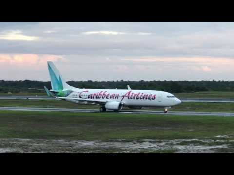 Caribbean Airlines  Arrival and Departure At the Cheddi Jagan International Airport (Guyana)