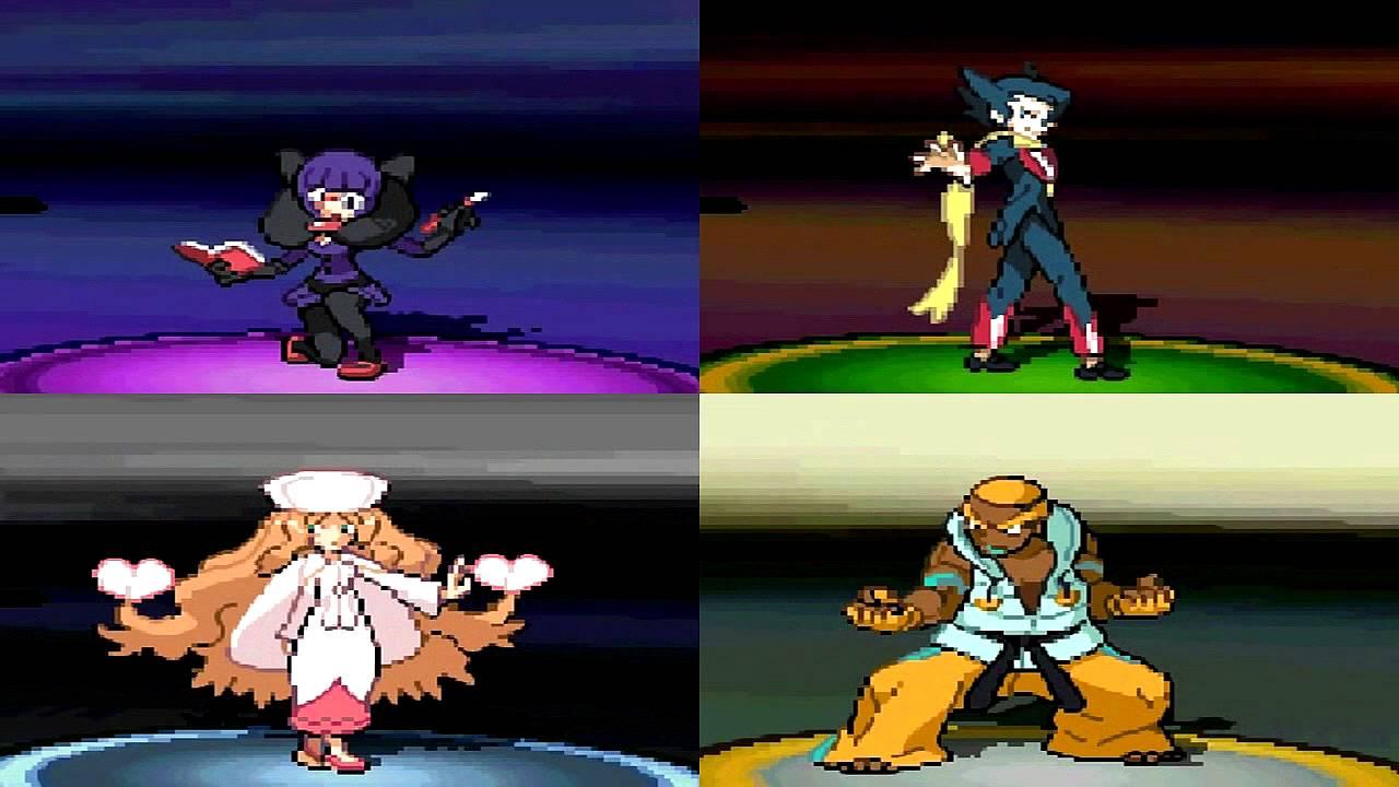 Pokemon Black And White 2 Elite Four Theme W Animations Youtube