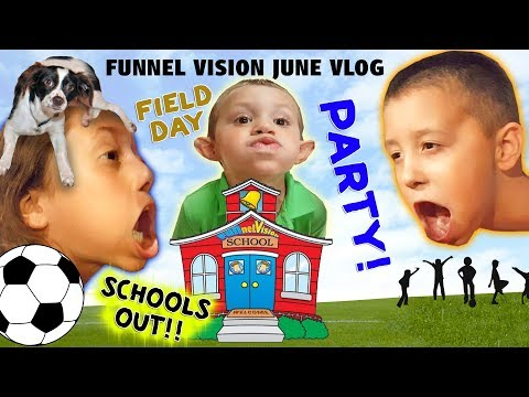 Bathroom Faces   Field Day & Last Day Of School Party / Playful Puppy (FUNnel Vision JUNE 2015 Vlog)